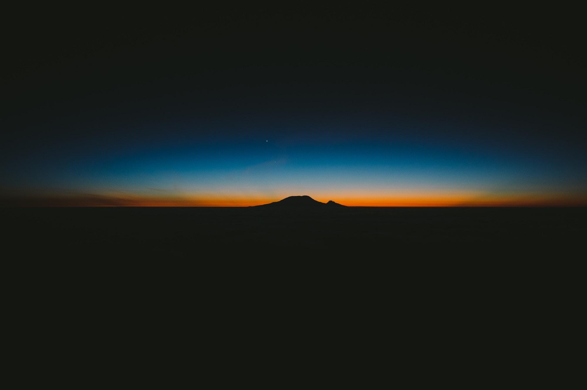 mt kilimanjaro night